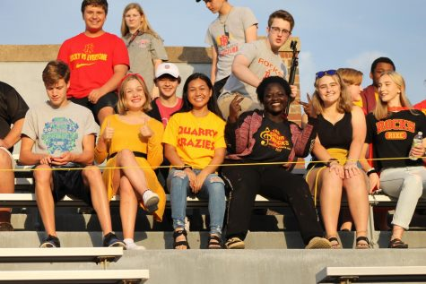 The Chamber Singers performed at the first football game of the season.