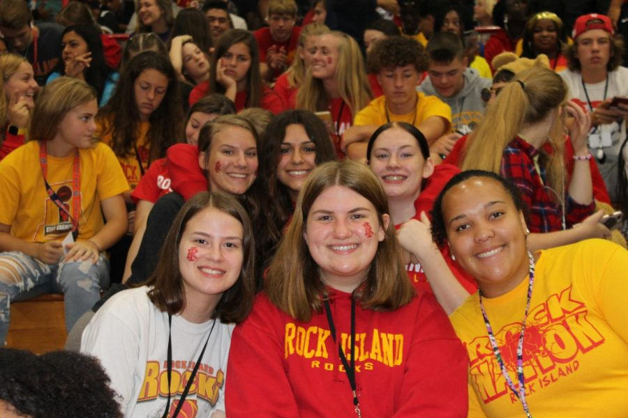 Rocky students enjoy the great assembly put on by the RIHS Student Council.